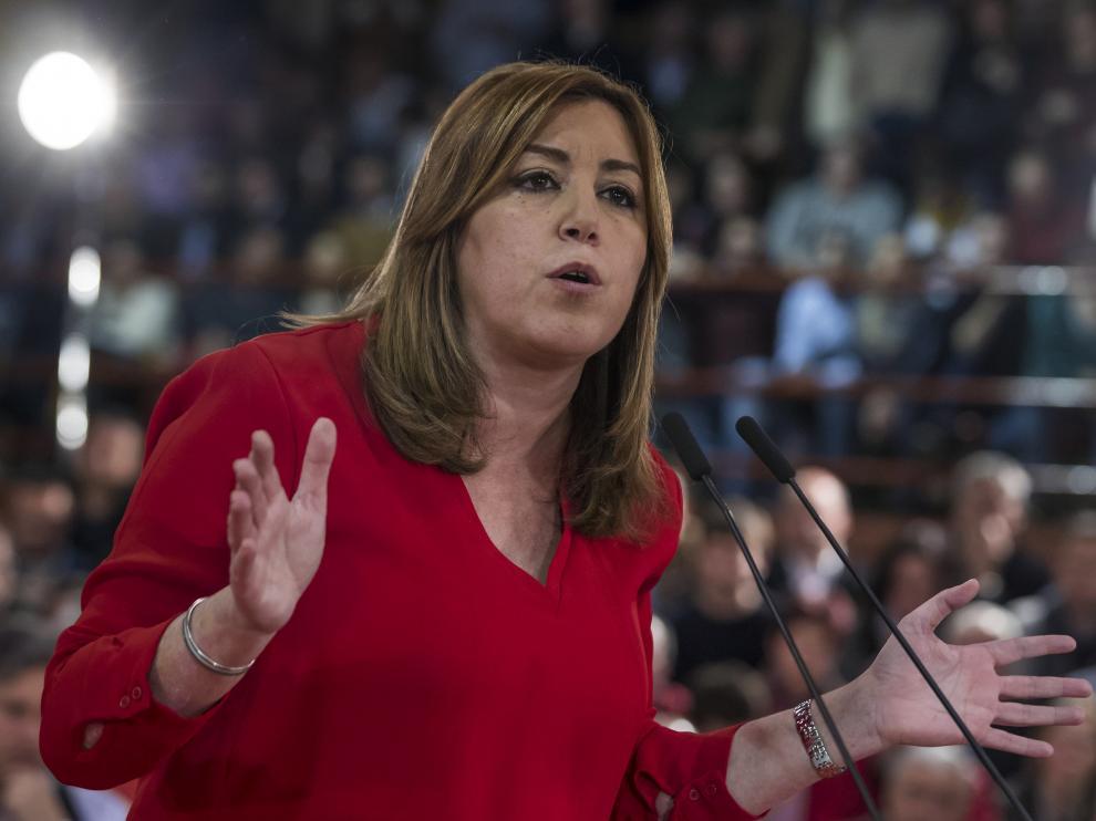 Susana Díaz, en Madrid