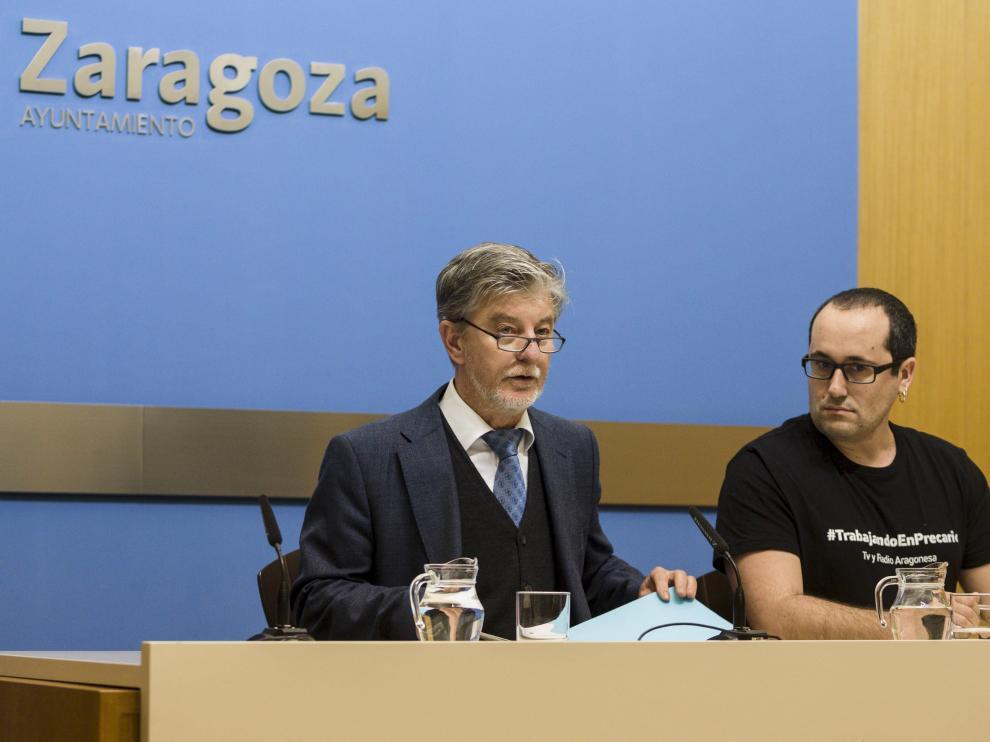 Santisteve y Cubero durante la rueda de prensa.