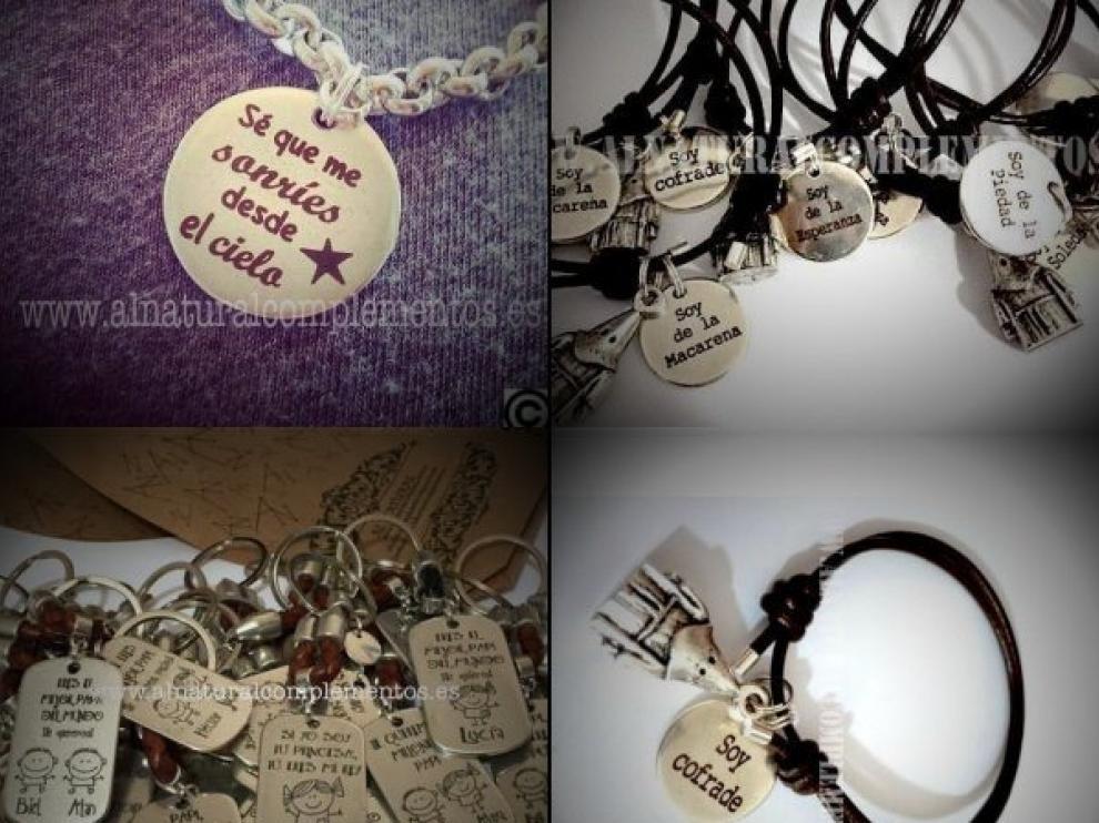Algunas de los joyas que diseñan y venden en Al Natural Complementos.