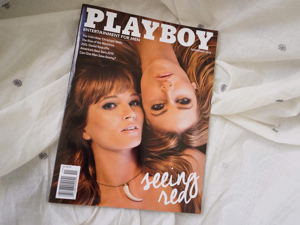 Un ejemplar de la revista Playboy de noviembre de 2015.