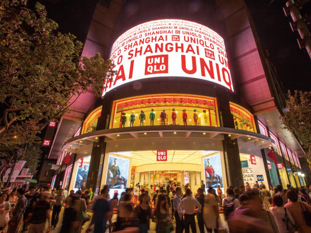 Tienda Uniqlo en Shangai.
