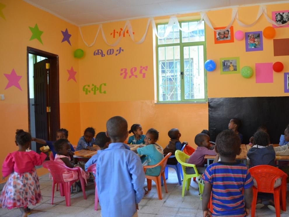 Una guardería en la ciudad etíope de Zway
