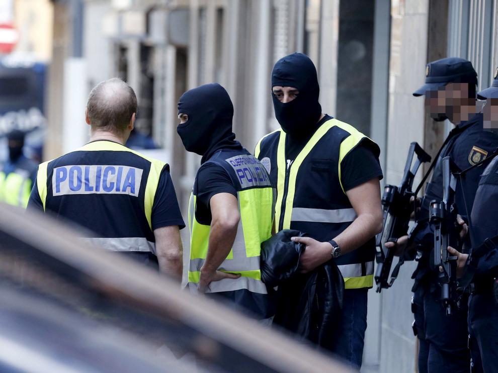 Imagen de archivo de efectivos de la Policía Nacional.