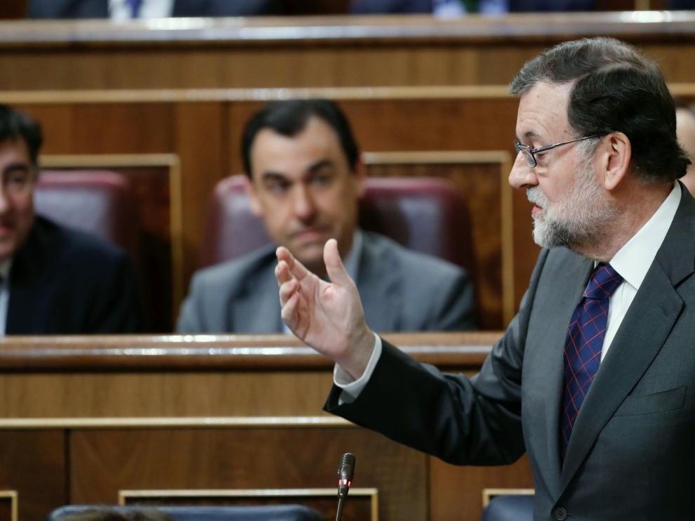 Mariano Rajoy este miércoles en el Congreso.
