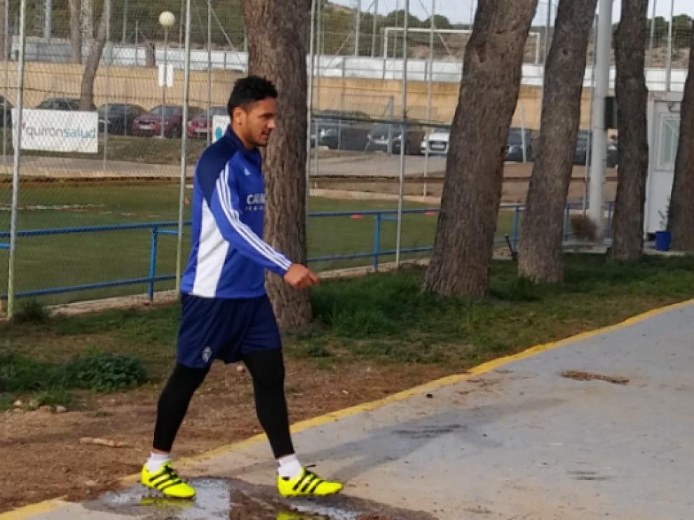 Marcelo Silva, en la mañana de este jueves al inicio del entrenamiento en la Ciudad Deportiva.