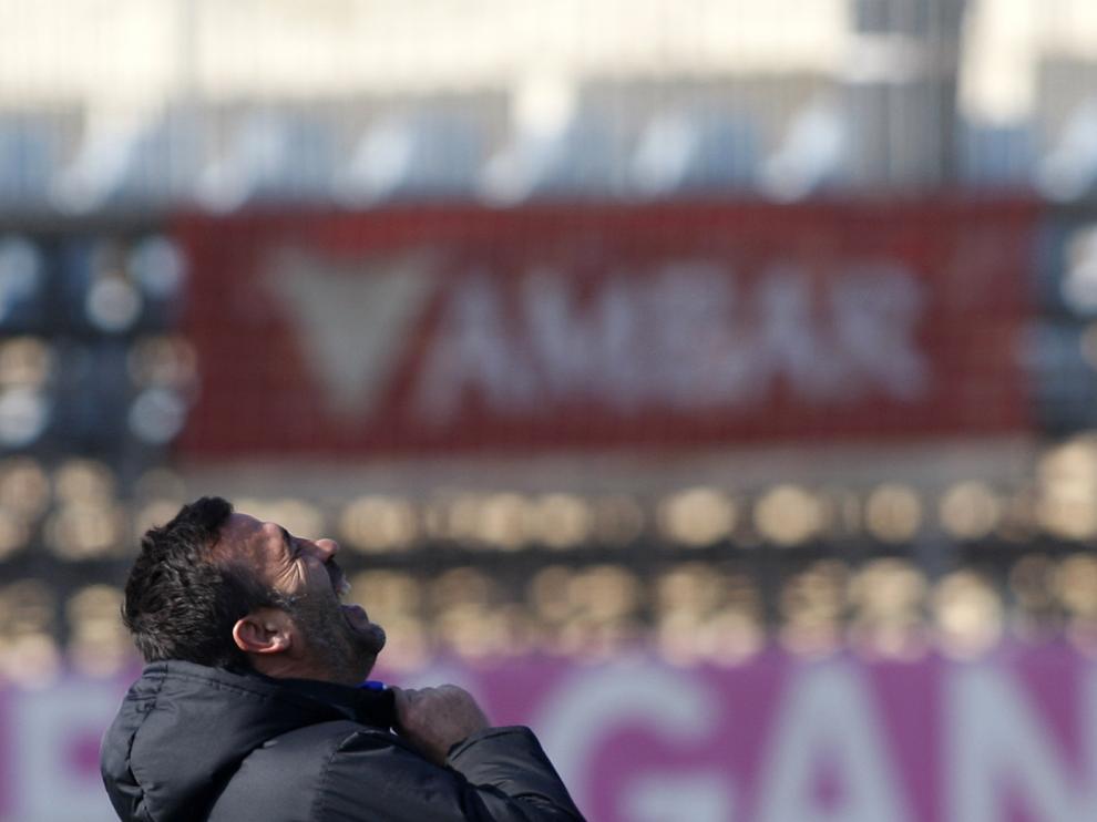 Raúl Agné durante el entrenamiento de este viernes.