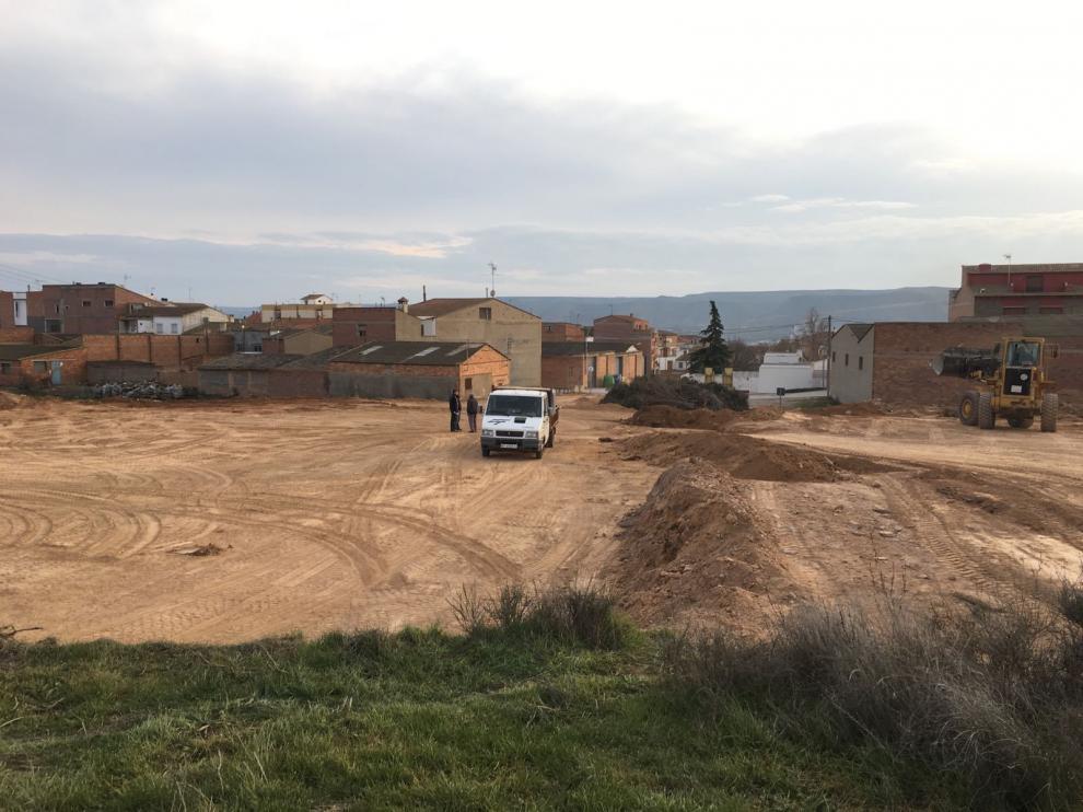 Entorno del cementerio viejo de Zaidín (Huesca).