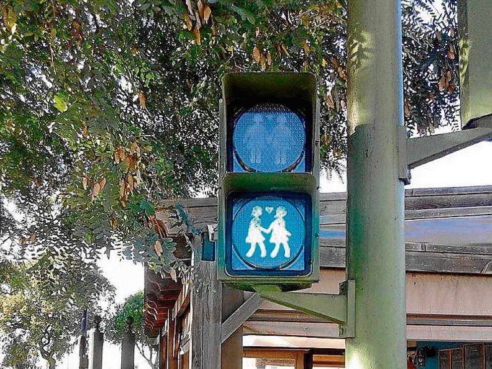 Uno de los semáforos instalados en San Fernando (Cádiz)