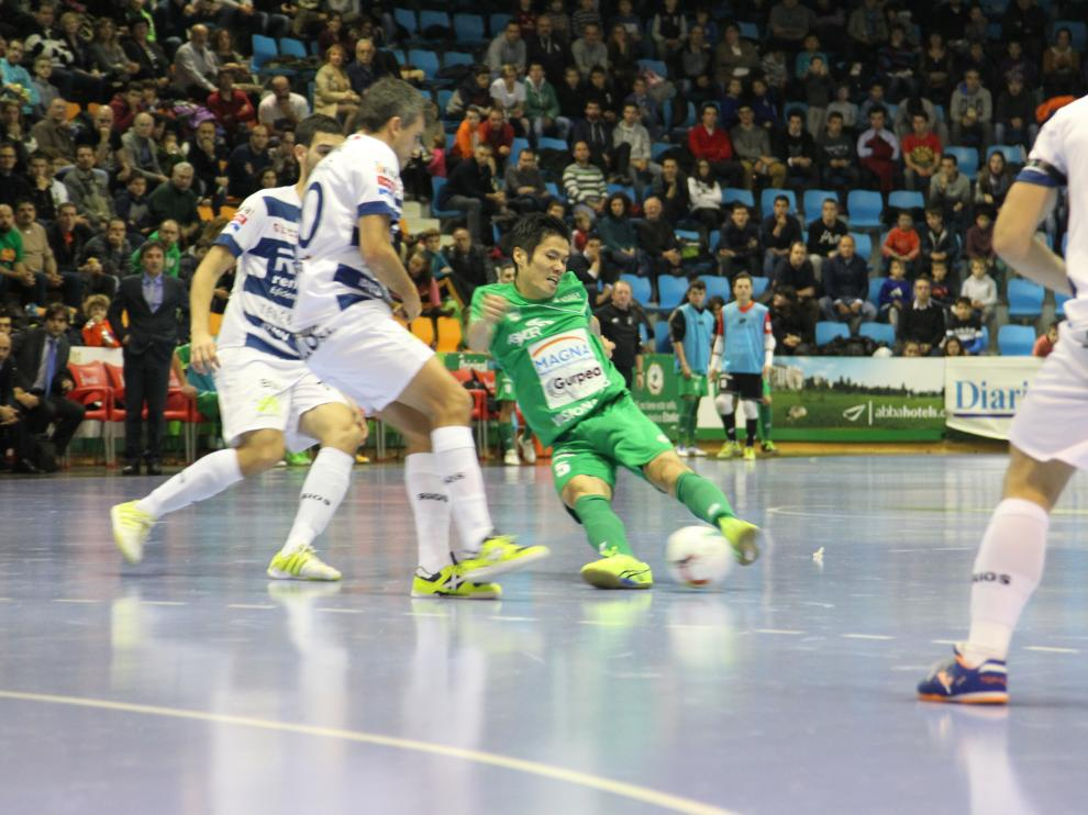 Imagen del partido de la primera vuelta.