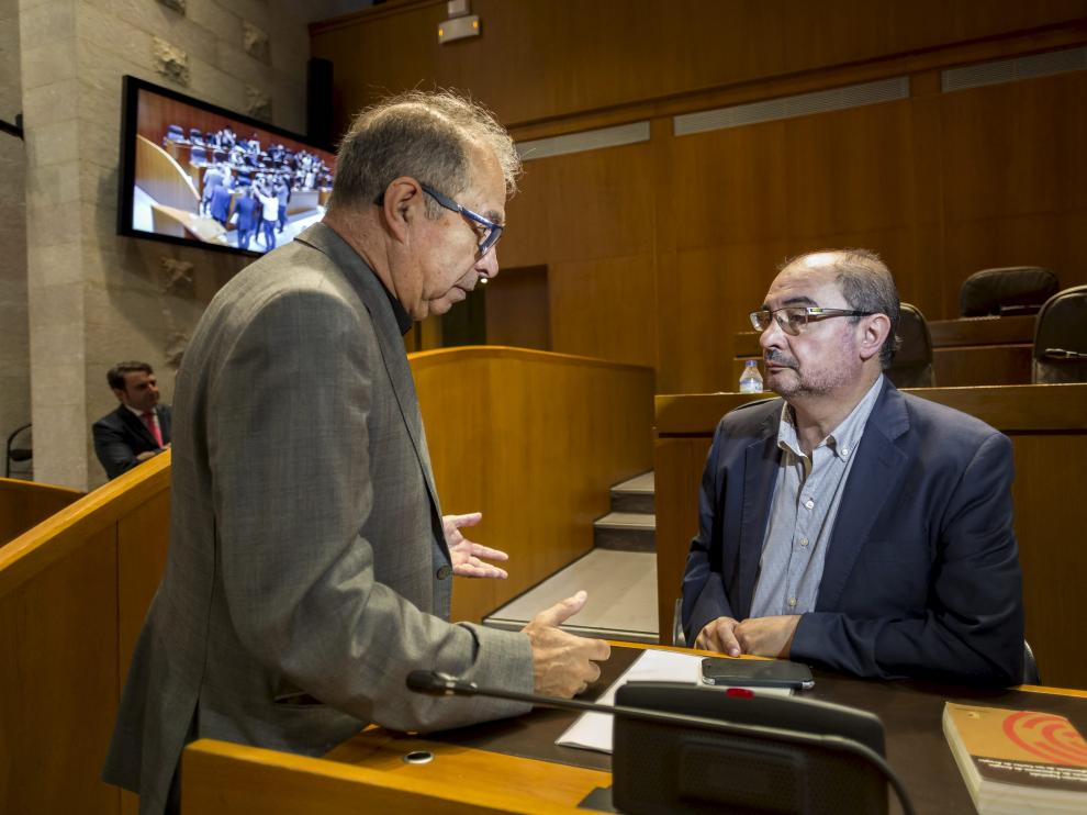 Javier Lambán y Fernando Gimeno en una imagen de archivo