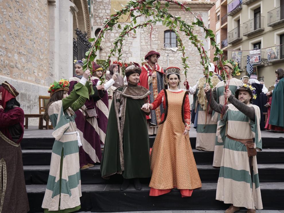 La escena principal de ayer recreó la boda de Isabel de Segura con Pedro de Azagra, el señor de Albarracín.