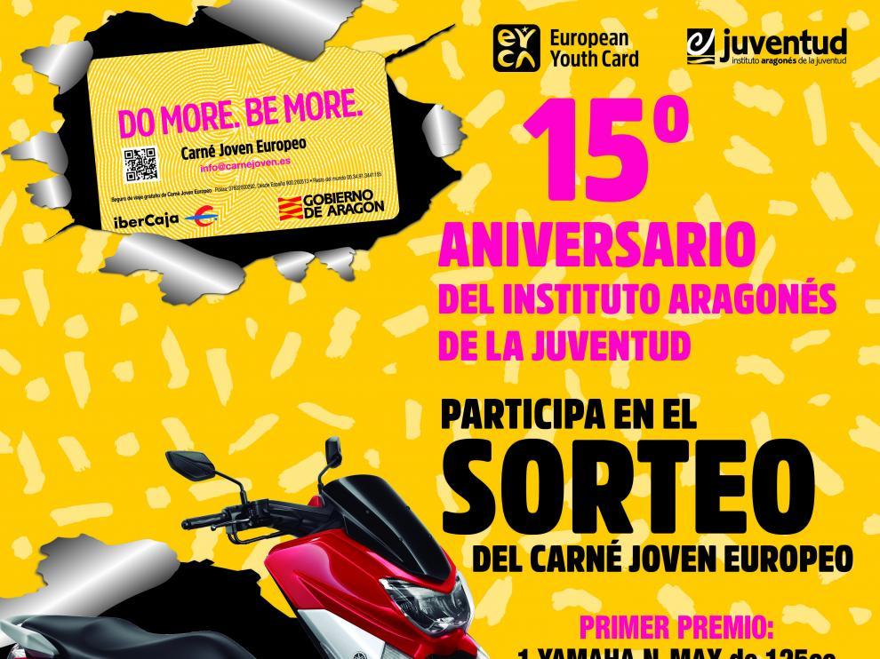El Instituto Aragonés de Juventud sortea una moto