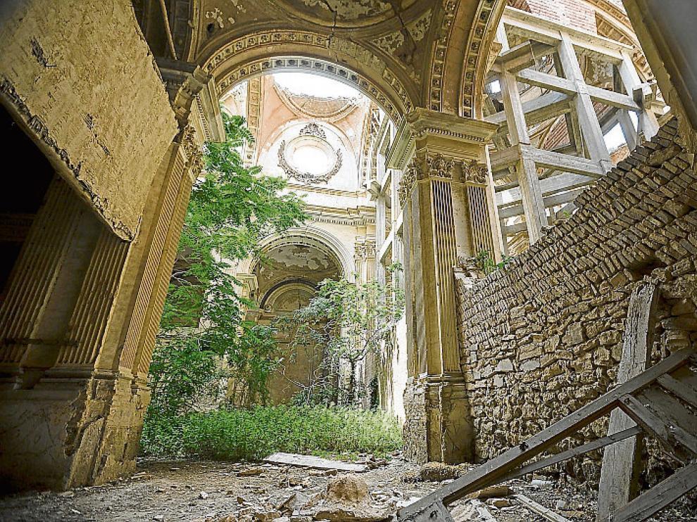 Monasterio de Santa Fe. El cenobio, entre Cuarte de Huerva y Cadrete, es la última incorporación a la lista roja de patrimonio.