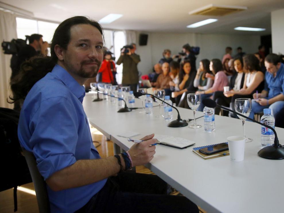 Pablo Iglesias, en el Consejo Ciudadano de Podemos, este sábado.