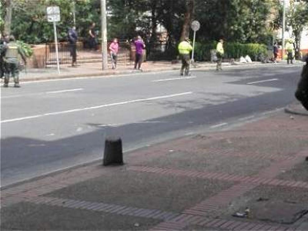 Explosión en las proximidades de la plaza de toros de Bogotá.