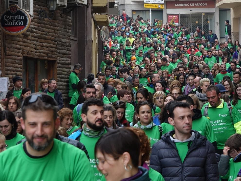 La marcha ha comenzado en el paseo Segoñé y ha vestido de verde la ciudad.