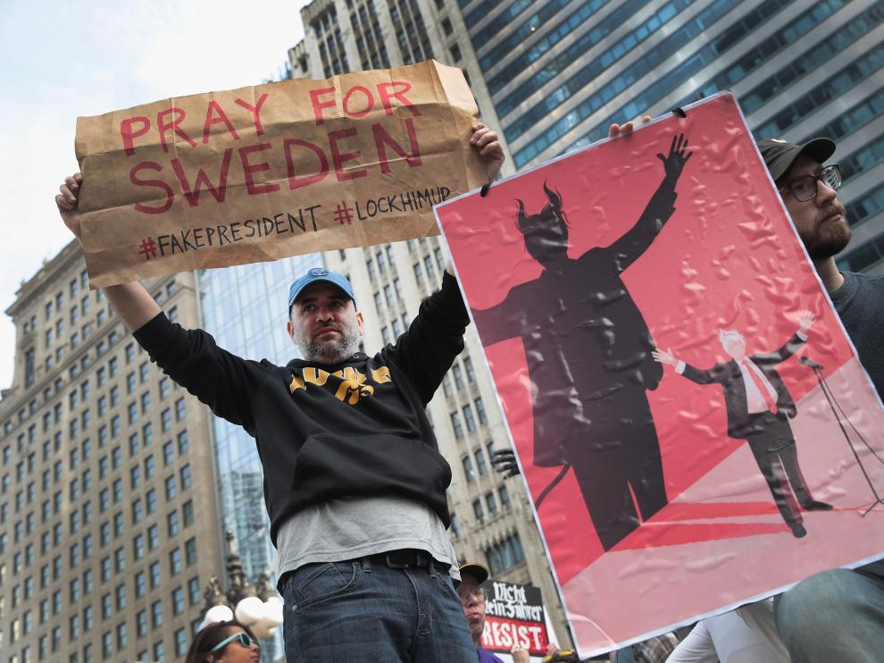 Protestas contra Trump en el Día del Presidente