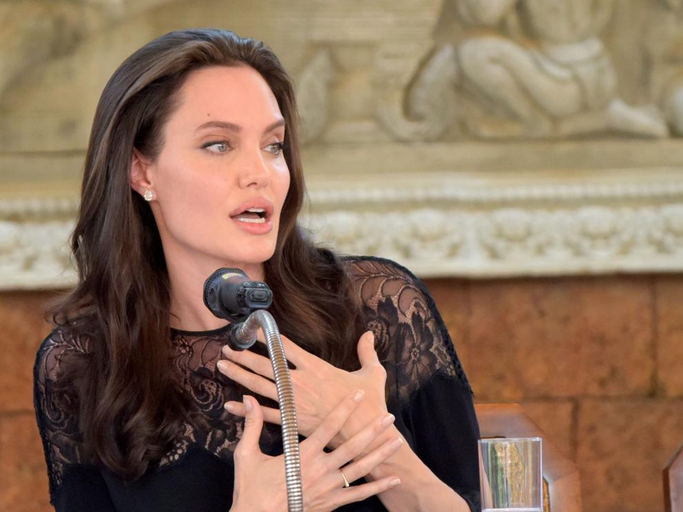 Angelina Jolie en Camboya.