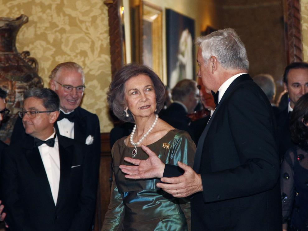 La reina Sofía durante el acto de entrega.