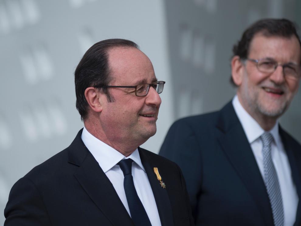 Hollande y Rajoy este lunes.