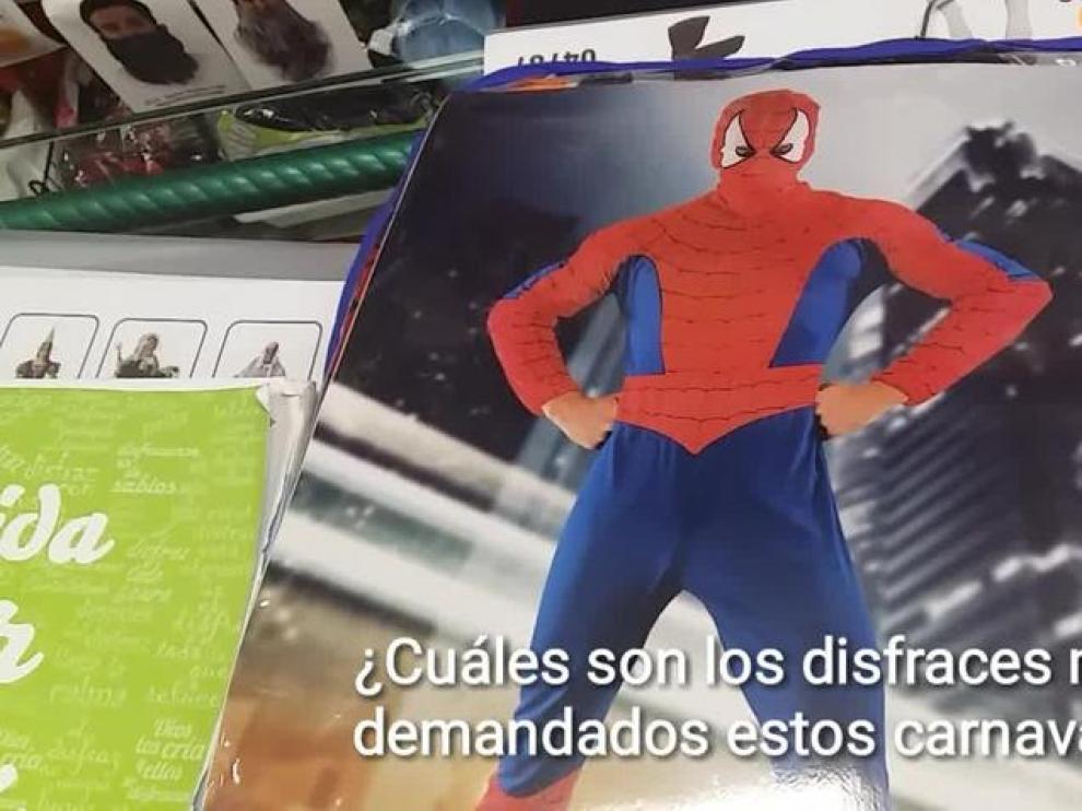'Ladybug' y 'Spiderman', disfraces que se disputan el trono de los carnavales