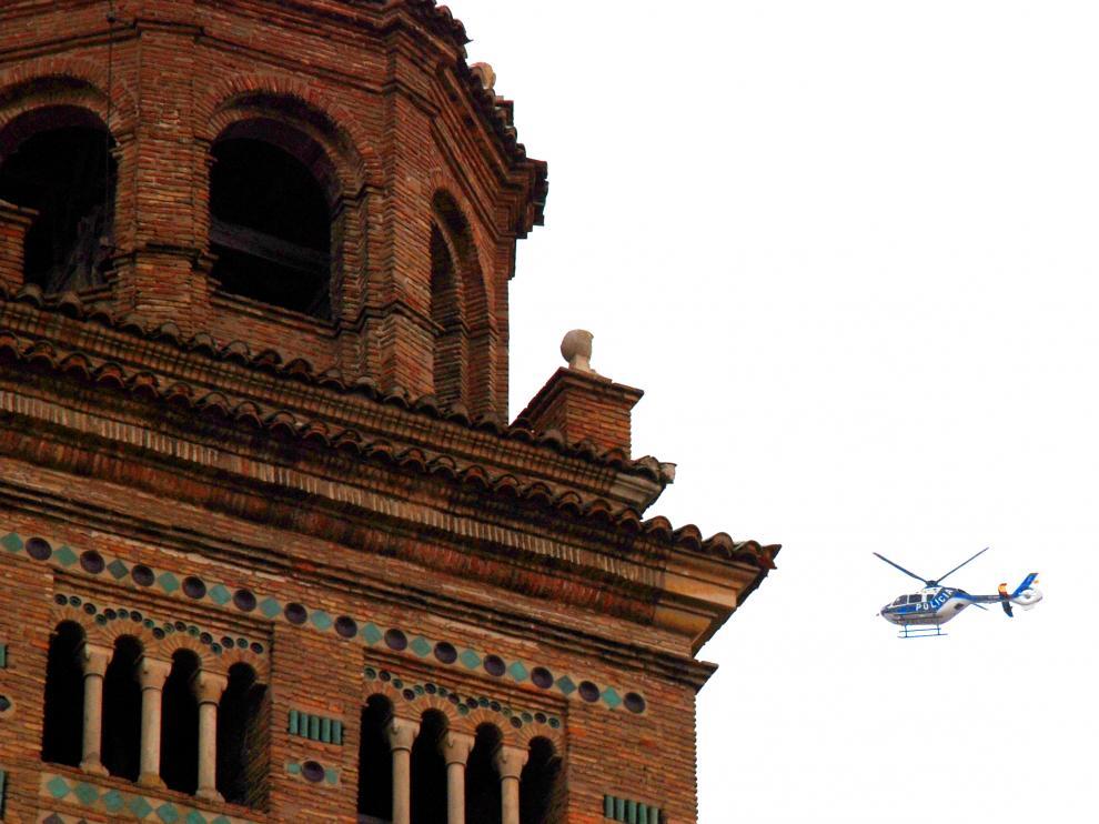 El dispositivo contó con un helicóptero.