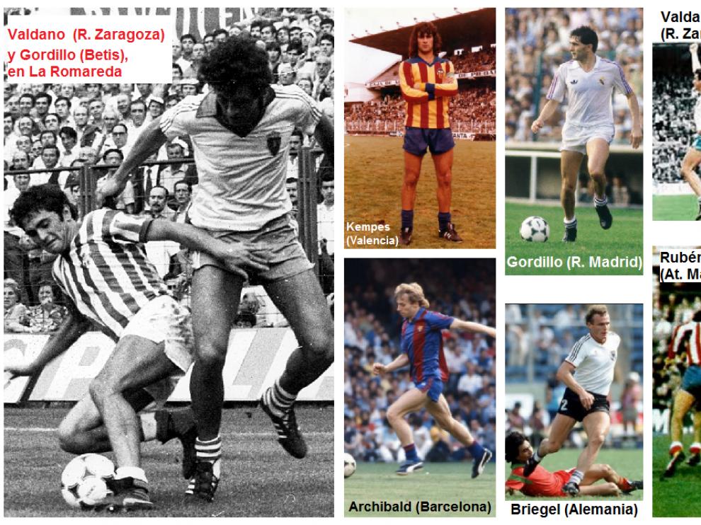 Algunos momentos históricos de las décadas de los setenta y los ochenta, con jugadores que actuaban siempre o mayormente con las medias abajo y sin espinilleras.