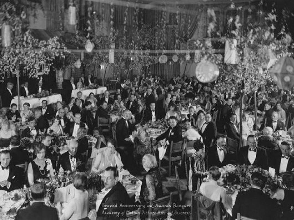 La primera ceremonia de entrega de los Óscar, en 1929.
