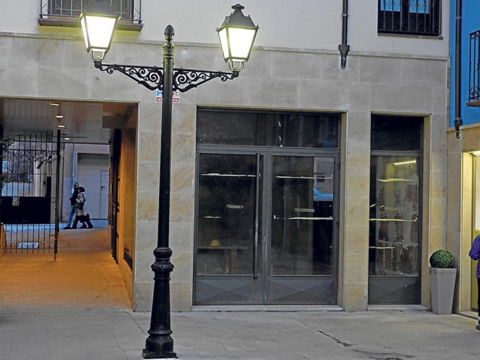 Local en el que Cáritas Diocesana de Osma-Soria abrirá su tienda de ropa de segunda mano