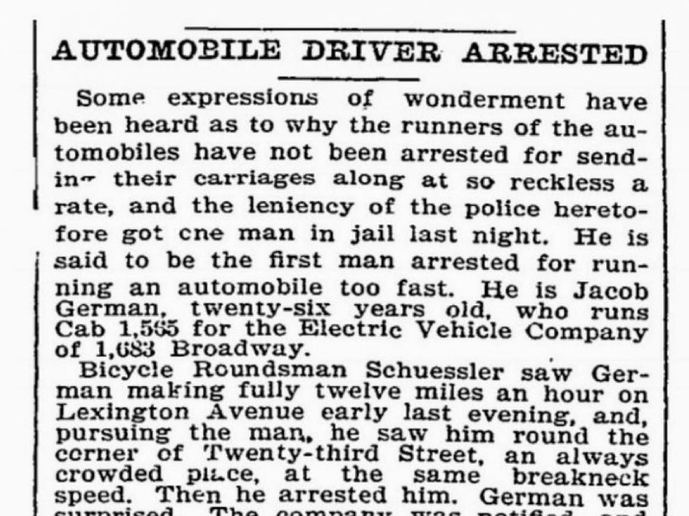 La nota del 'New York Times' que dio la noticia del arresto.