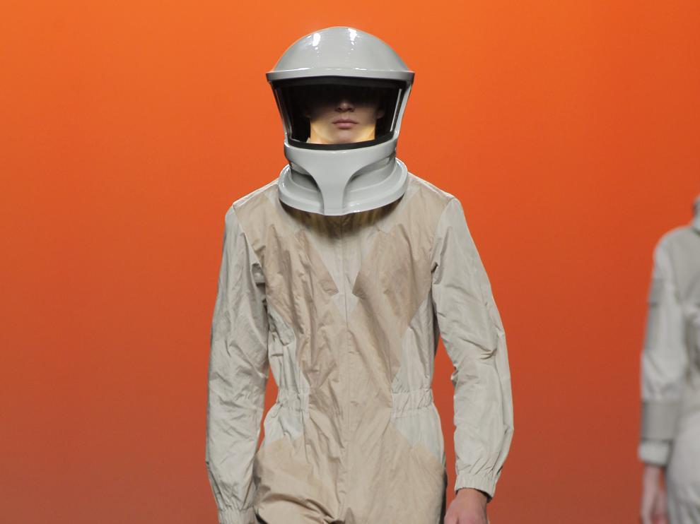 Uno de los cascos aragoneses en la Madrid Fashion Week
