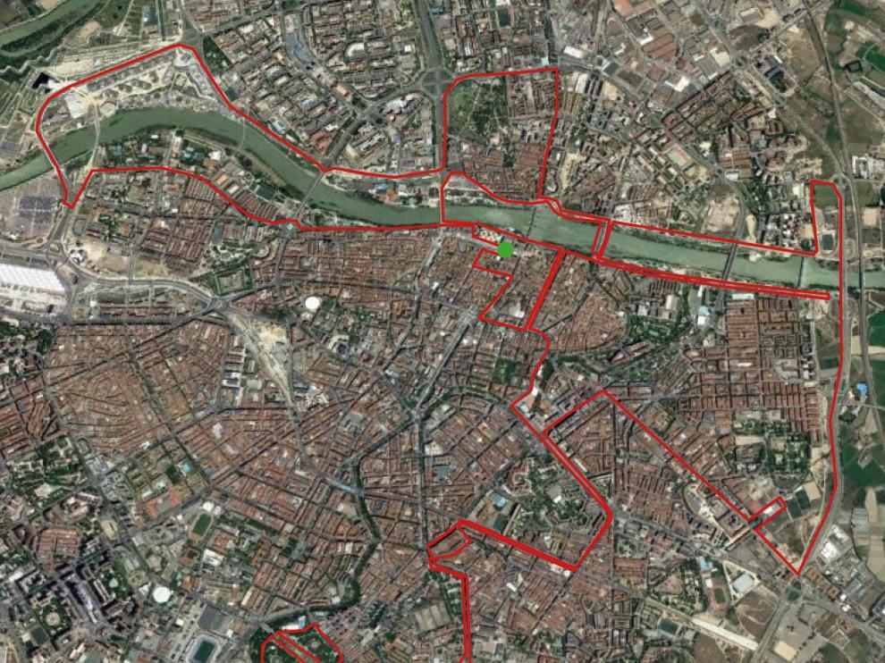 Así será el recorrido de la Maratón de Zaragoza 2017