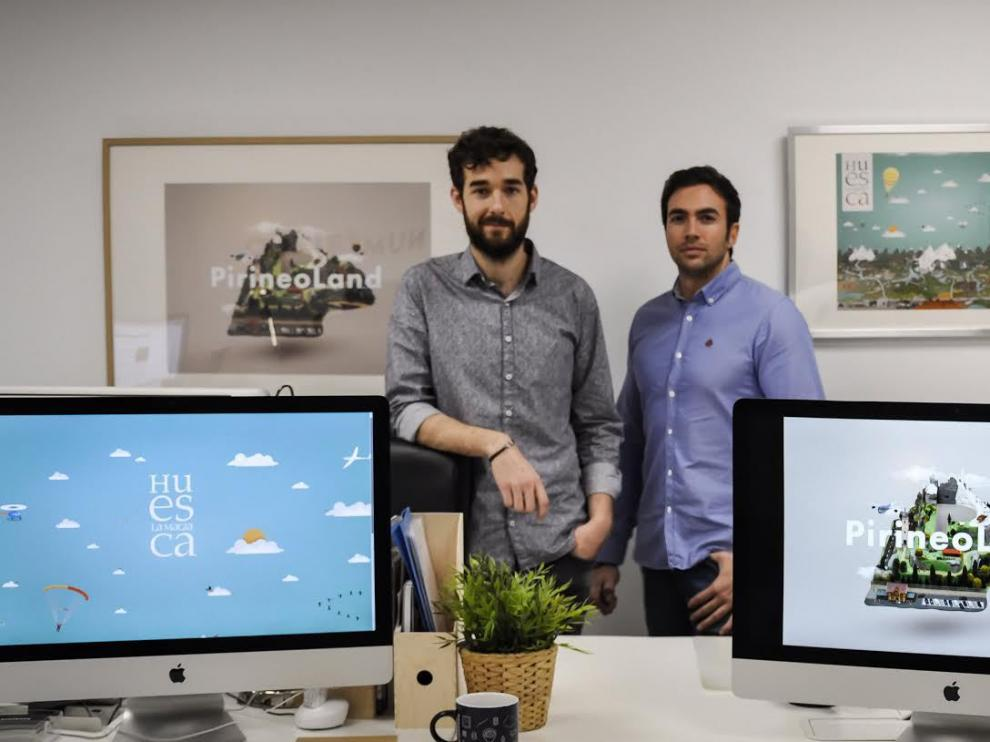 Daniel Puértolas y Antonio Puértolas, naturales de Barbastro y socios fundadores de Numéricco Estudio.