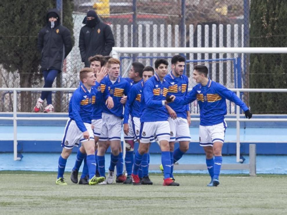 Los jugadores de Aragón sub 18 en el partido contra Asturias