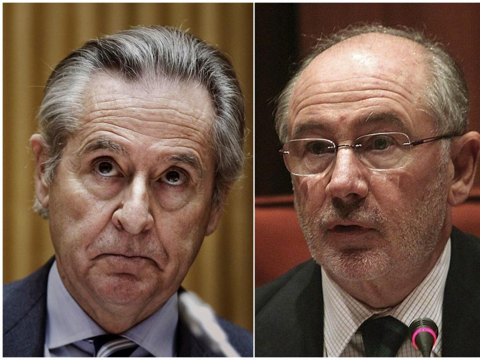 Combo de fotografías de archivo de los expresidentes de Caja Madrid Miguel Blesa (i) y Rodrigo Rato (d).