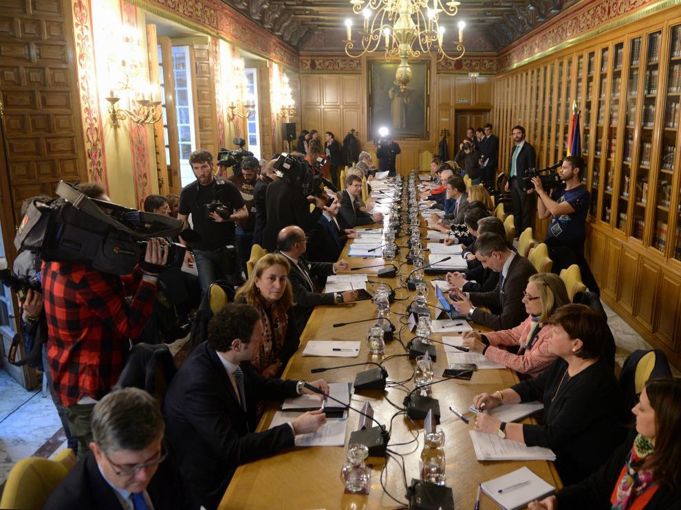 Un momento de la conferencia sectorial celebrada este miércoles en Madrid.