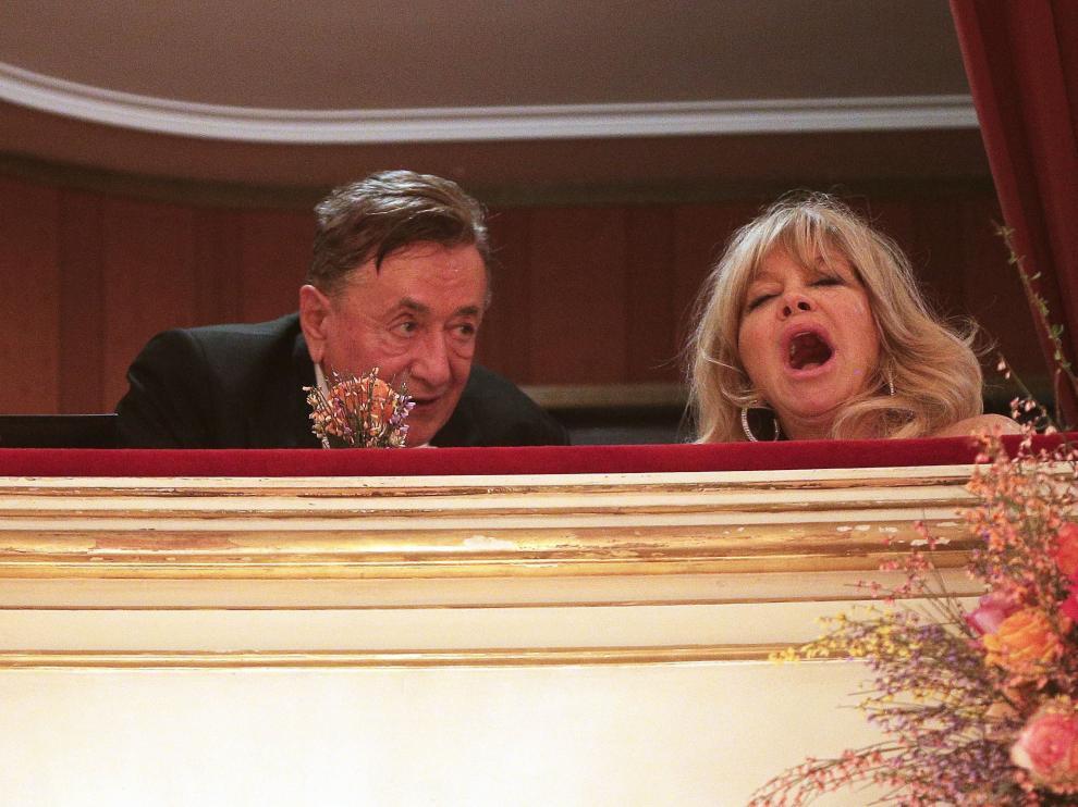 Goldie Hawn en el Baile de la Ópera de Viena.