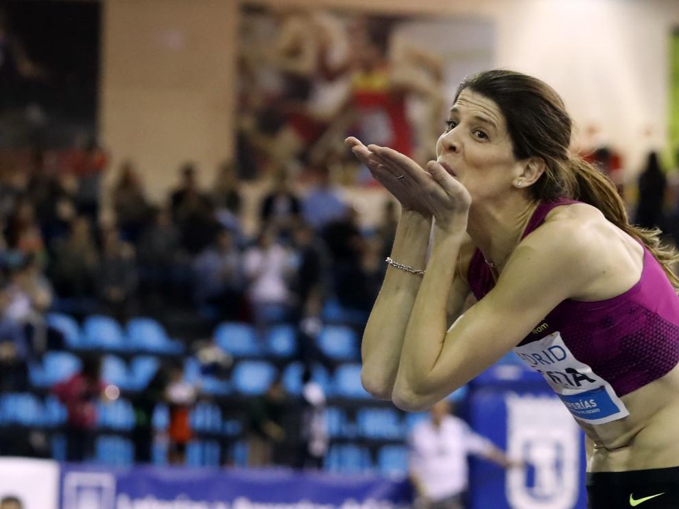 Ruth Beitia, tras ganar
