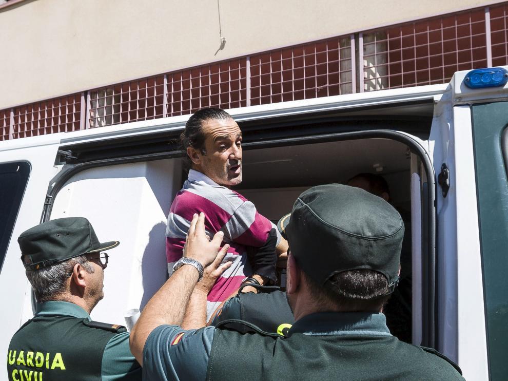 Pablo Canales, en julio de 2016, en los juzgados de Ejea.