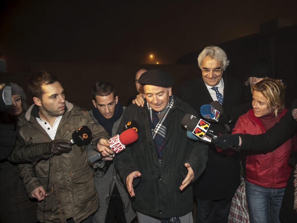 La salida de prisión de Florencio Garcés causó una gran expectación mediática.