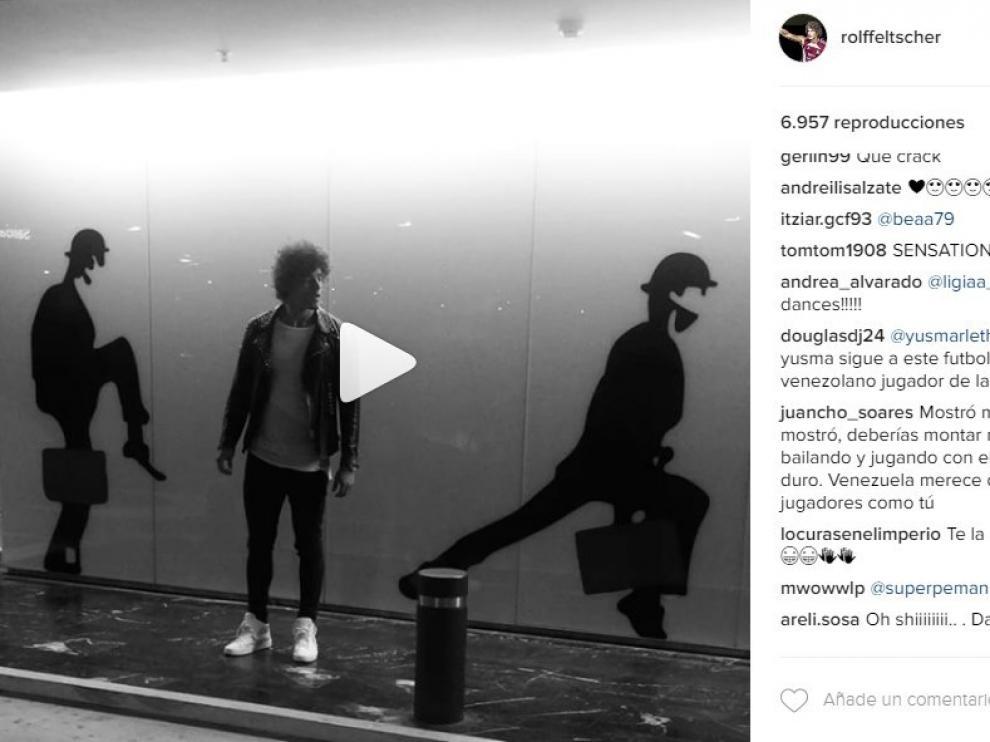 Vídeo publicado por Feltscher en su cuenta de Instagram.