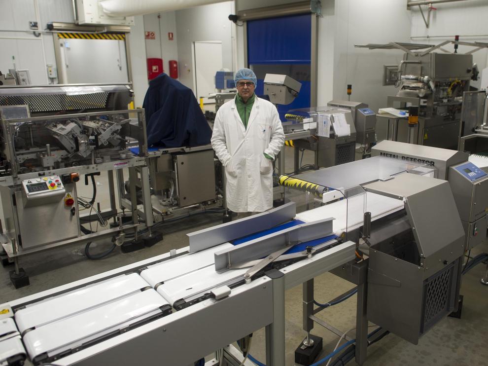 Jorge Alonso, director de Marketing de Scanfisk, en las nuevas instalaciones de Mercazaragoza.
