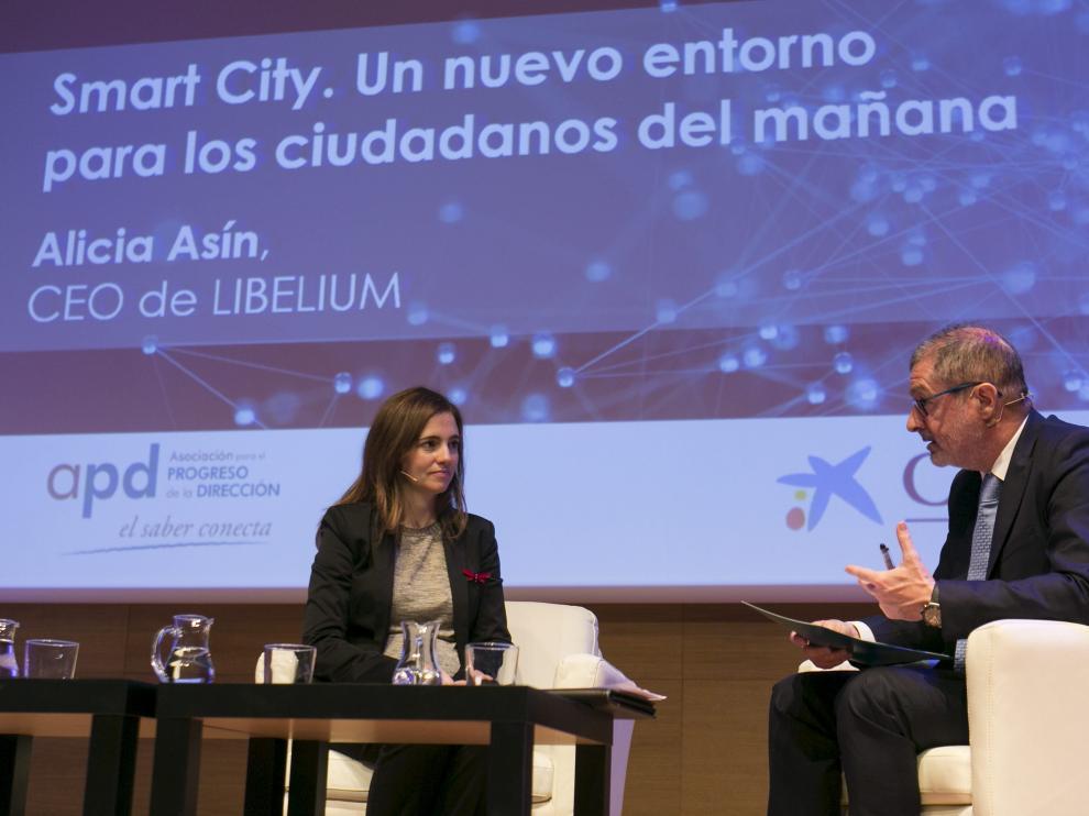 Alicia Asín y Javier Pardo.