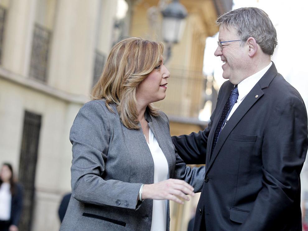 Susana Díaz y Ximo Puig.