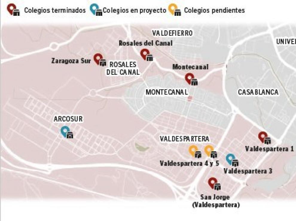 La mayor desproporción de oferta y plazas escolares está en los barrios de Montecanal y Valdespartera. También hay problemas en Cuarte