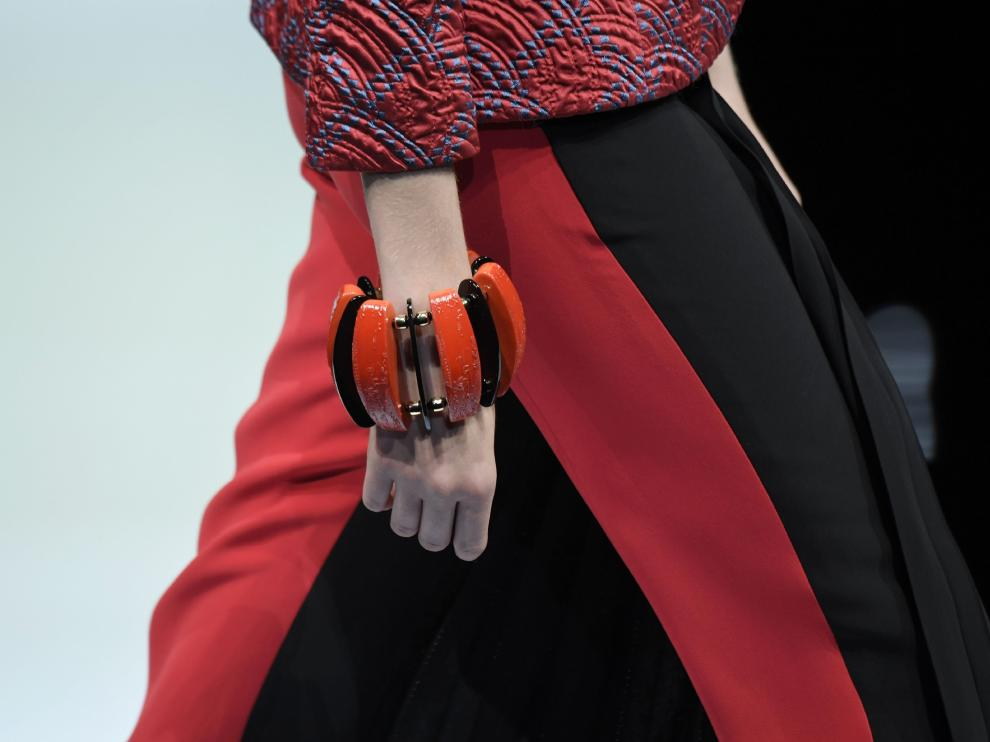 La falda-pantalón presentada por Giorgio Armani en su desfile de la Semana de la Moda de Milán.