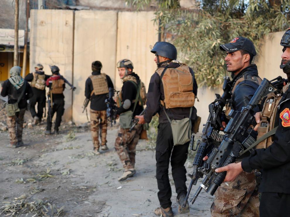 Miembros del Ejército iraquí en Mosul.