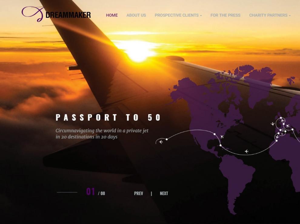 La web de 'Passport to 50', donde se detalla esta especial vuelta al mundo