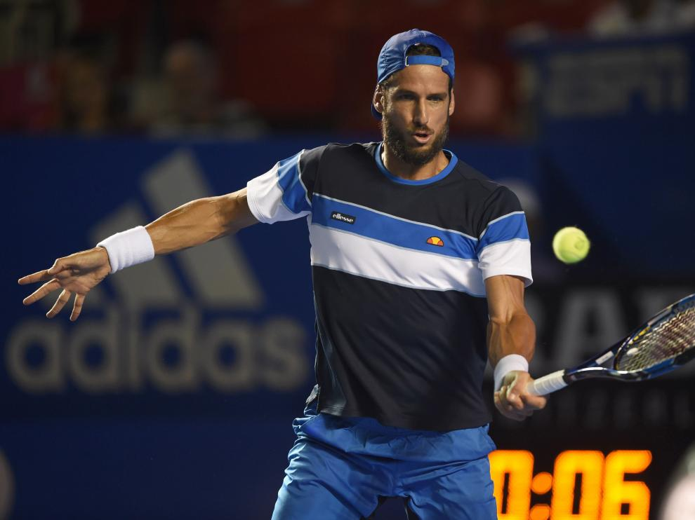 El tenista Feliciano López en el partido.