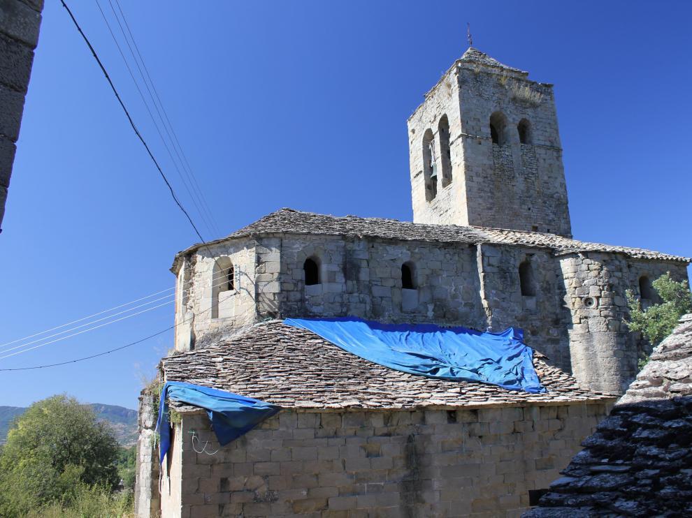 La iglesia de Castejón de Sobrarbe, hundida en el olvido